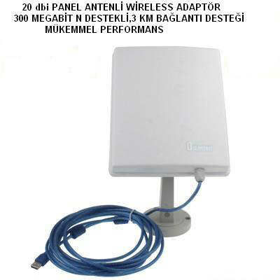 S�PER SET Wireless Adapt�r 20 dbi PANEL ANTEN