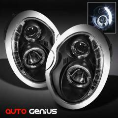 mini cooper 02-08 Siyah Angel Eyes led Far sonar