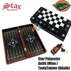 Star Polyester Antik Mine Tavla Tak�m�