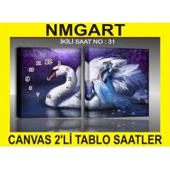 �K� PAR�ALI  SAATL� CANVAS (KANVAS) TABLO