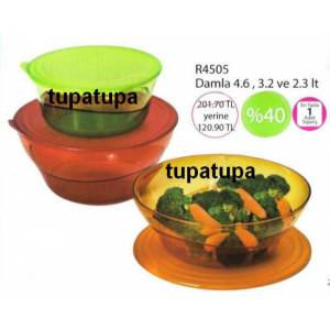 TUPPERWARE DAMLA SET RENKL� %40 �ND�R�ML� KA�MAZ