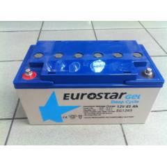 EUROSTAR  12V - 65Ah  Deep Cycle JEL AKÜ