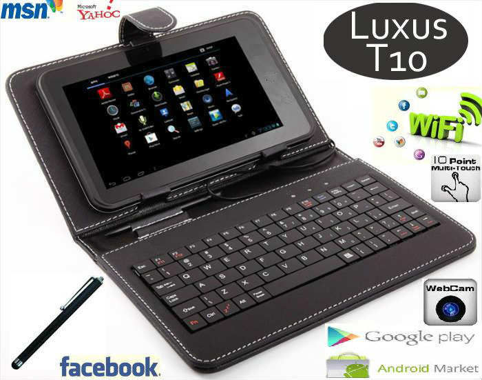 Luxus T10 Android 4,04 7'�NCH Tablet PC+KLAVYE