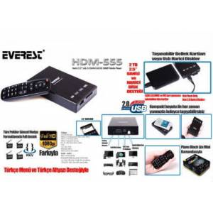 Everest HDM555 Usb Sata Full HD Media Oynat�c�