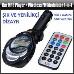 OTO ÇAKMAK MP3 USB+SD Wireless FM Modulator 4-in