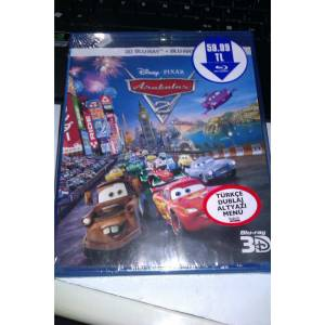 CARS 2-ARABALAR 2-3D+2D BLURAY-AMBALAJINDA