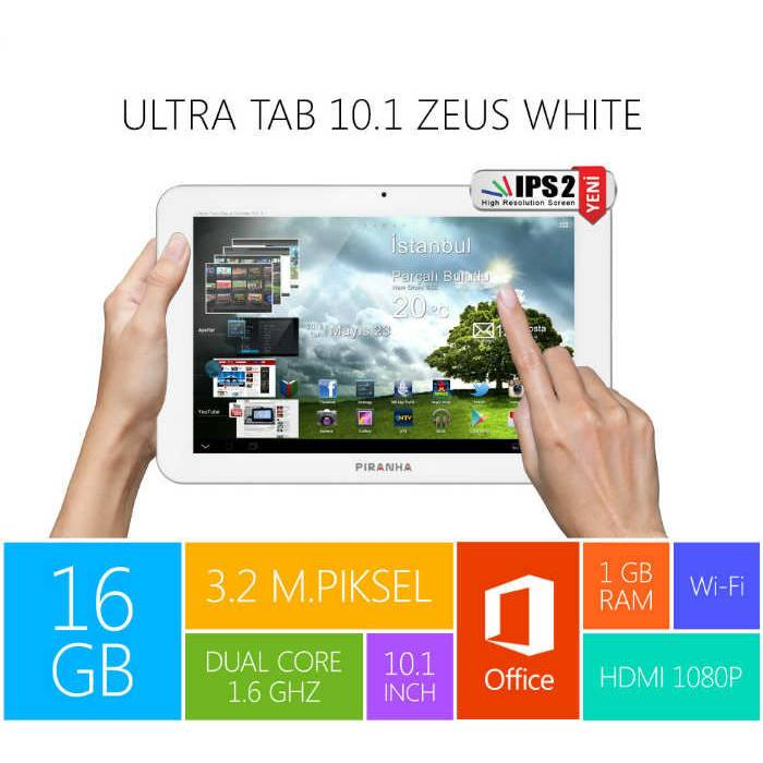Piranha Ultra Tab 10.1'' Zeus White Tablet PC