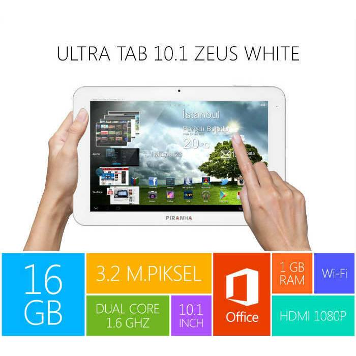 Piranha Ultra Tab 10.1 Zeus White 16GB IPS EKRAN