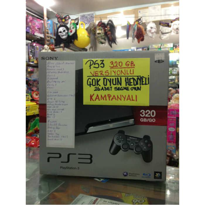 SONY PLAYSTATION 3 SLIM 320GB 26 OYUNLU ��PL�