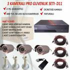 3 KAMERA DVR CHAZLI HAZIR GVENLK SSTEM- D11