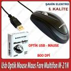 Usb Optik Mouse Maus Fare Multifon M-21N