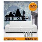 KADFE DUVAR STICKER BURSA 122,2x66,3 CM