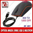 Usb Optik Mouse Maus Fare Multifon MF-21 1000DP�