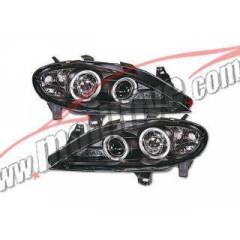 Renault Megane 99-02 Siyah Angel Eyes sonar far