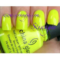 China Glaze Yellow Polka Dot