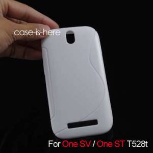 HTC ONE ST / ONE SV S-LINE SOFT KILIF 3X FILM BY