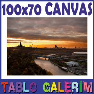 KANVAS TABLO 100x70 MOSCOW EVEN�NG LANDSCAPES