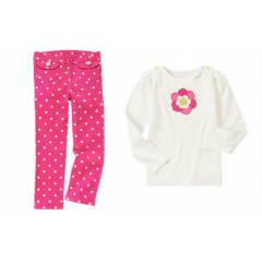 GYMBOREE PANTALON ve TSHIRT ,  3, 4, 5, 6, 7 YA�