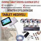 4 KAMERALI GVENLK SSTEM - 7&amp;quot; TABLET HEDYEL