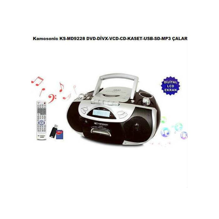 Kamosonic KS-MD9228 USB-SD-MP3-DVD-KASET �ALAR