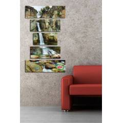 100X150CM B�Y�K BOY 5 PAR�ALI CANVAS TABLO D0086