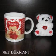 PELU� AYICIK VE KUPA  -  I LOVE YOU