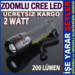 2WATT ZOOMLU METAL FENER CREE LED 200 L�MEN K.DH