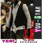 Youstar Fashion talyan Yelek -S-M-L-XL-(U879)