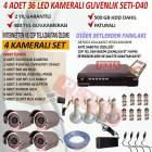4 KAMERALI DVR CHAZLI PRO GVENLK SSTEM-D40
