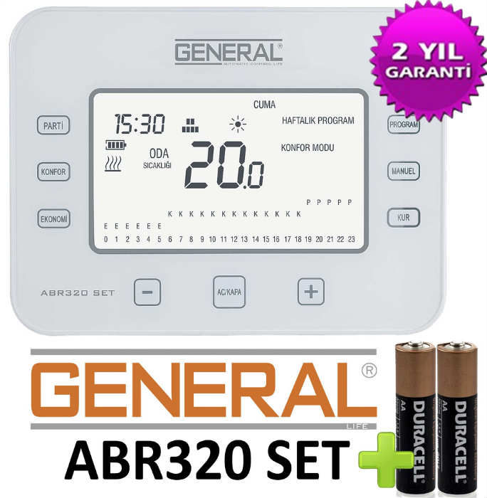 General ABR320 SET Kablosuz Prog. Oda Termostat�