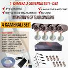 4 Kamera 4&#039;l Dvr Cihaz Gvenlik Sistemi - D53