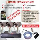 3 KAMERALI DVR CHAZLI EKO GVENLK SSTEM-D20