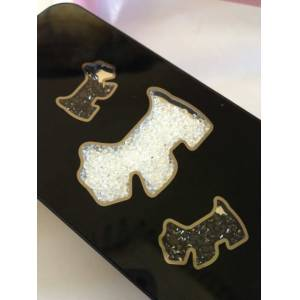 IPHONE 5 SCOTTIE DOG SWAROVSKI  KAPAK S�YAH