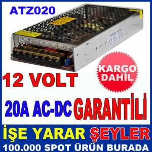 12V 20A AC-DC �� VE DI� MEKAN LED ADAPT�R� KD