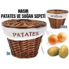 Patates So�an Saklama Sepeti Has�r Sepet 1 Adet