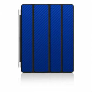 Apple Ipad Smart Cover Karbon Kaplama K�l�f Mavi