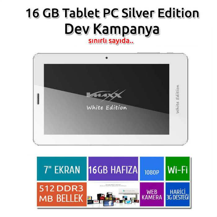 Vmaxx 16GB Tablet PC, Beyaz Renk, S�per Kampanya