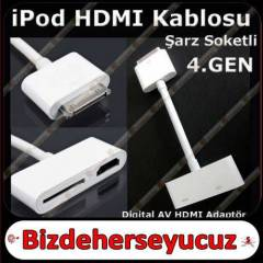 iPod Touch HDMI Kablosu AV HDMI Adapt�r 4.Gen