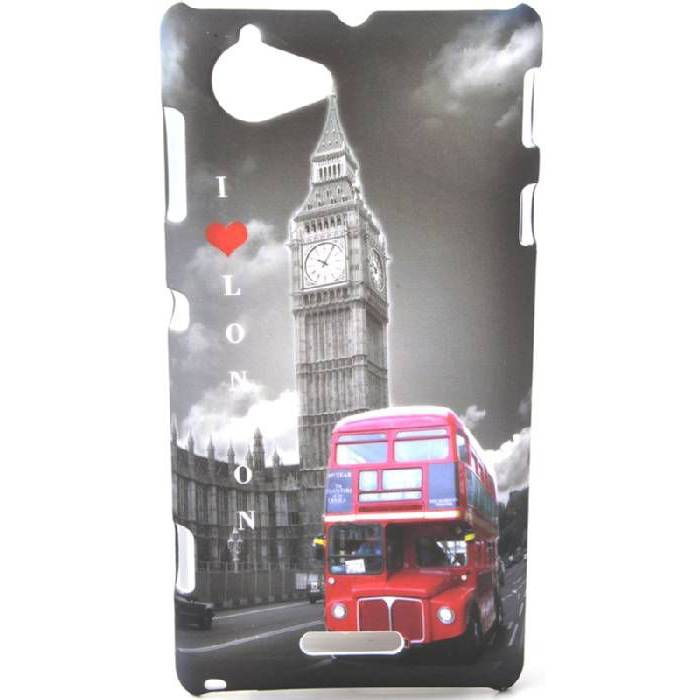 Sony Xperia L S36h I Love London Kapak K�l�f