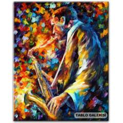 100X70 KANVAS TABLO AFREMOV JOHN COLTRANE