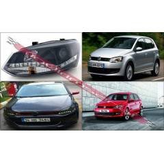 POLO R6 2009-MERCEK �ON LEDL� �N DRL FAR S�YAH