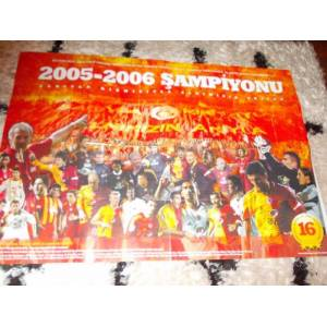 DEV BOY GALATASARAY POSTER�*2005-2006 �AMP�YONU.
