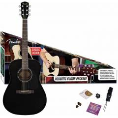 IMC FENDER CD-60 PACK V2 S�YAH AKUSTIK G�TAR SET
