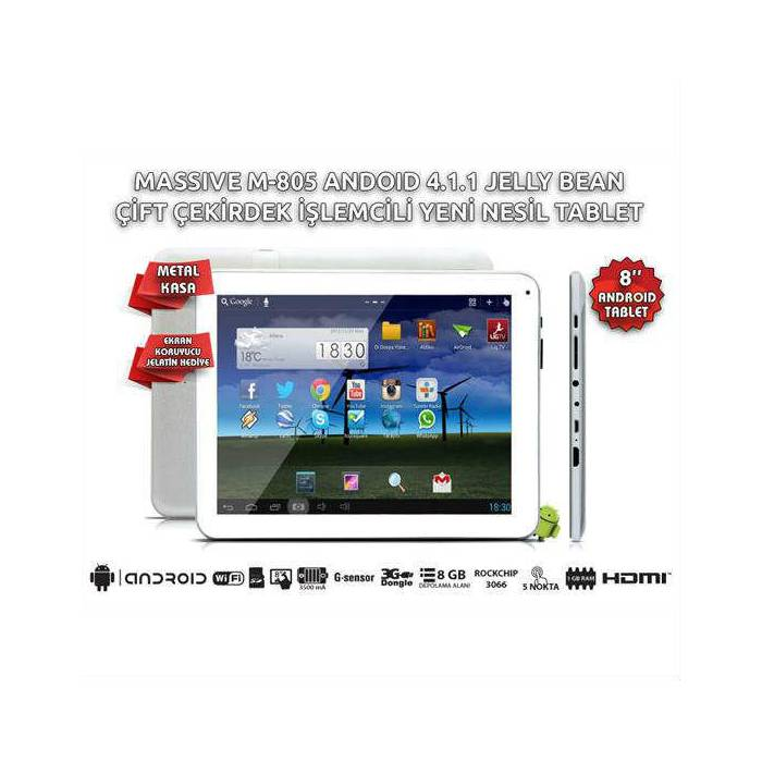 Massive M-805 8 inc Android Tablet 299 TL