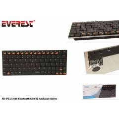 Everest KB-IP11 Siyah Bluetooth Mini Q Kablosuz