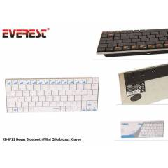 Everest KB-IP11 Beyaz Bluetooth Mini Q Kablosuz