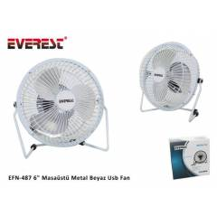 Everest EFN-487 6 Masa�st� Metal Beyaz Usb Fan