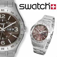 Swatch YTS703G In A Maroon Mode Bay Kol Saati