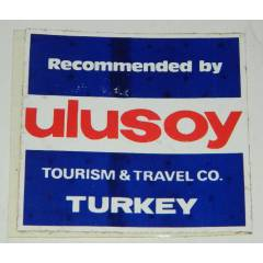 ULUSOY TUR�ZM ESK� VE NAD�R STICKER