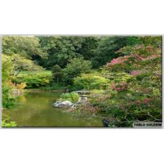 100X70 KANVAS TABLO PARKS JAPAN POND NAR�TA CHPA